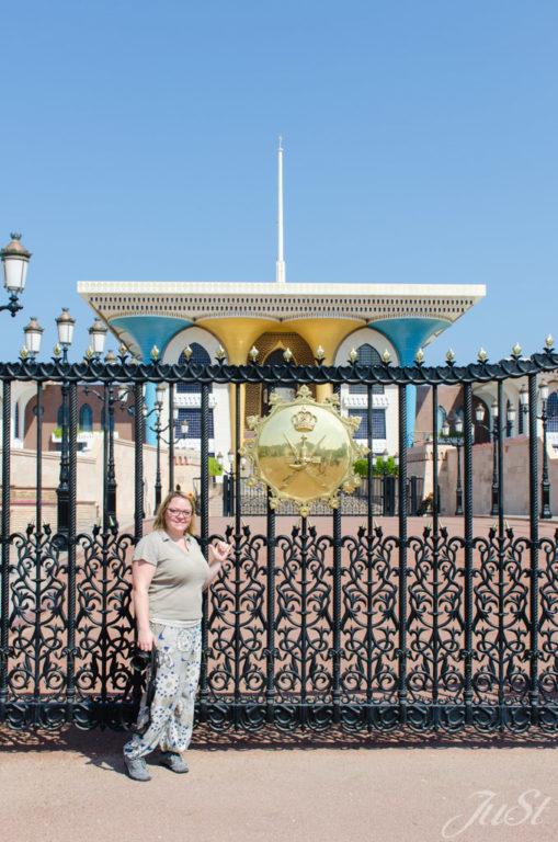 Eingangstor zum Palast von Muscat