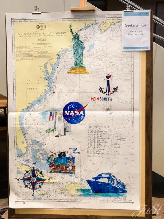 Seekarte der Mein Schiff 6