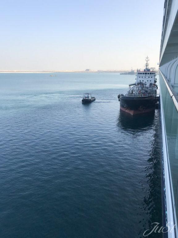 Abreise vom Schiff in Dubai